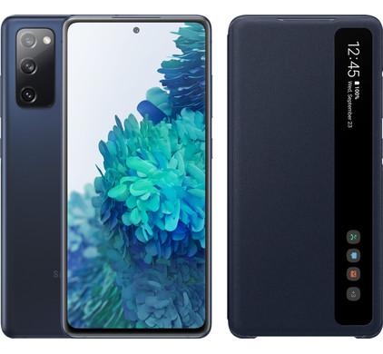 Samsung galaxy s20 fe 128gb blauw 4g + clear view book case blauw