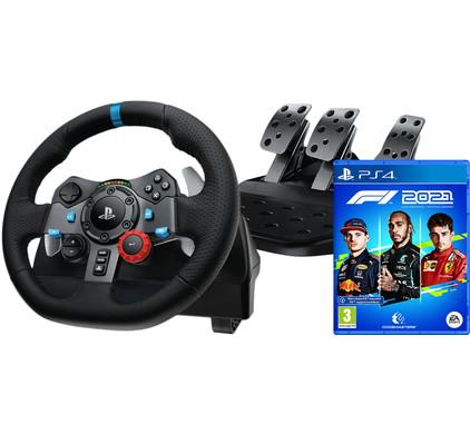 Logitech G29 Driving Force + F1 2021 PS4