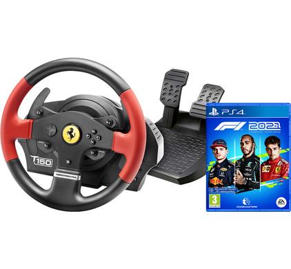 Thrustmaster T150 Ferrari Edition + F1 2021 PS4