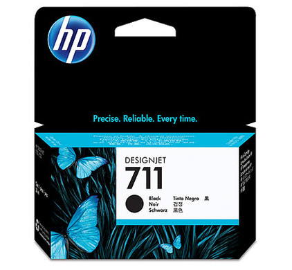 HP 711 Ink Cartridge Zwart (CZ129A)