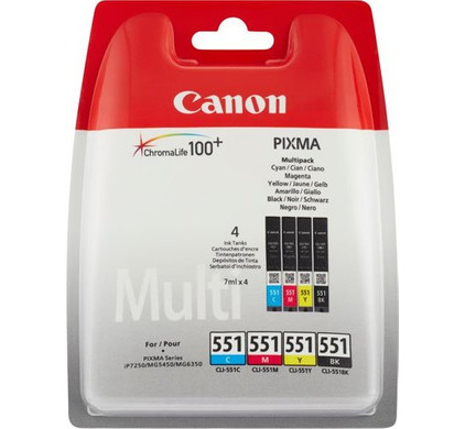 Canon CLI-551BCMY Colour Value Pack 6509B009 Packaging
