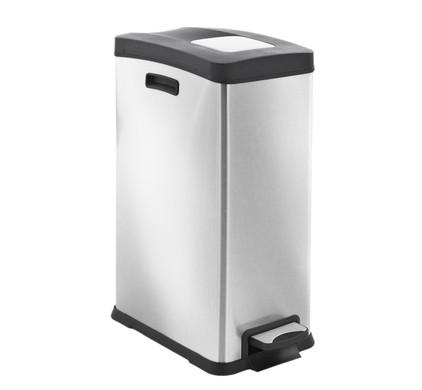 Eko Pedaalemmer 20 Liter.Eko Rejoice Pedal Trash Can 30 Liters Matte Stainless Steel Before