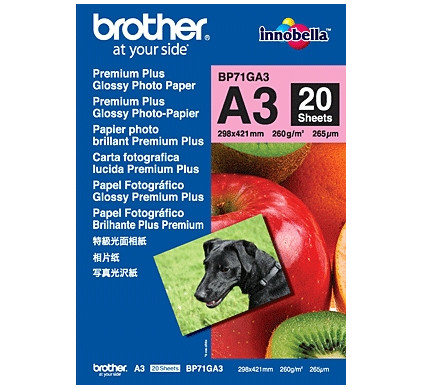 Brother Premium Plus Fotopapier 20 vel A3 (260 gr/m2)
