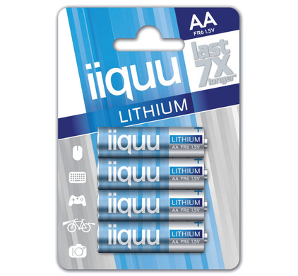 iiquu lithium AA + geheugen
