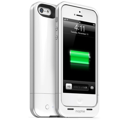mophie Juice Pack Air Apple iPhone 5 / 5S Wit