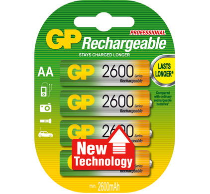 GP AA NiMH 2700 Batterijen 4-pack + cleaning