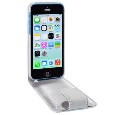 Artwizz SeeJacket Leather Flip Case iPhone 5C White