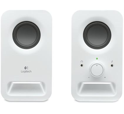 Logitech Z150 2.0 Speakersysteem Wit + Bluetooth Adapter