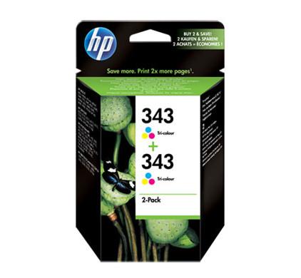 HP 343 Double Combo Pack 3-Kleuren (CB332EE)