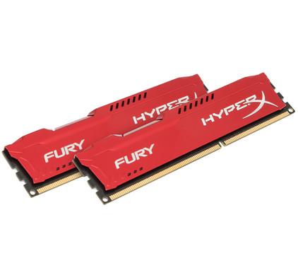 Kingston HyperX FURY 16GB DDR3 DIMM 1600 MHz Rood (2x8GB)