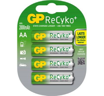 GP ReCyko+ Oplaadbare AA 4 x + statief