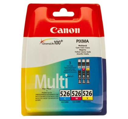 Canon CLI-526 CMY Cartridge 3-Kleuren (4541B009) Packaging