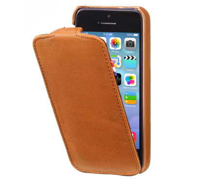 Decoded Leather Flipcase Apple iPhone 5/5S/SE Brown