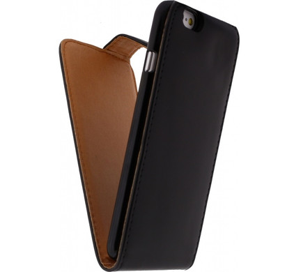Xccess Leather Flip Case Apple iPhone 6 Zwart