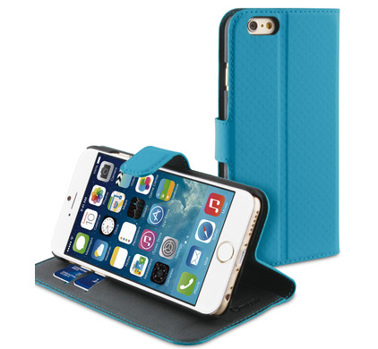 Muvit Wallet Case Apple iPhone 6 Turquoise