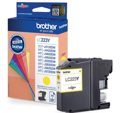 Brother LC-223Y Cartridge Geel