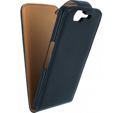 Xccess Leather Flip Case Wiko Highway Zwart