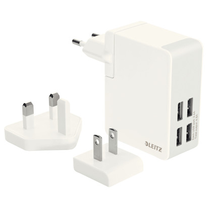 Leitz Travel Charger 4X USB Wit