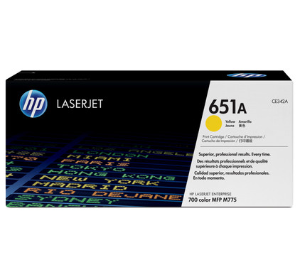 HP 651A Toner Geel + Papier