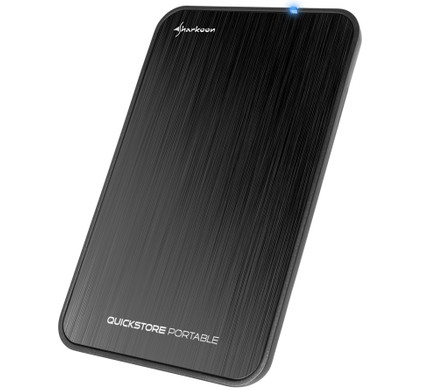 Sharkoon QuickStore Portable USB 3.1 2.5 inch Black Main Image