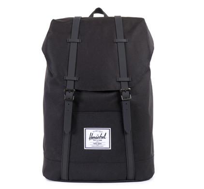 Herschel Retreat Black/Black Synthetic Leather