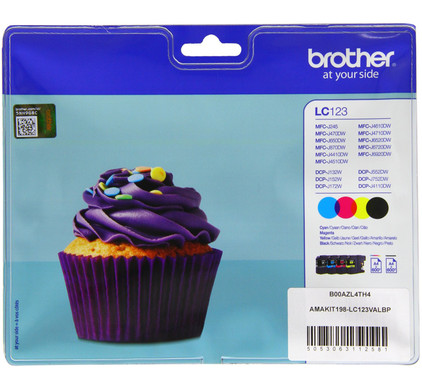 Brother LC-123 Colour Value Pack (BCMY) LC-123VALBP