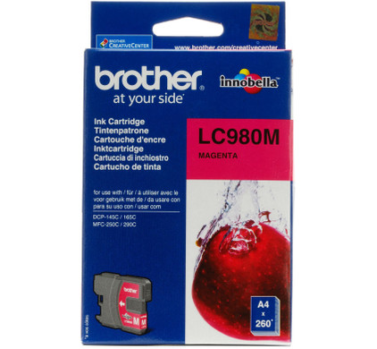 Brother LC-980M Magenta Ink Cartridge (Rood)