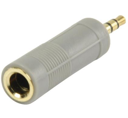 Bandridge Hoofdtelefoonadapter 6,3 mm naar 3,5 mm