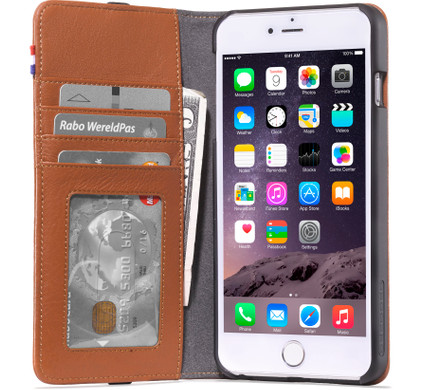 Decoded Leather Wallet Apple iPhone 6 Plus/6s Plus Bruin
