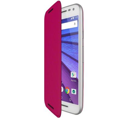 Motorola Moto G 4G (3rd Gen) Flip Shell Roze