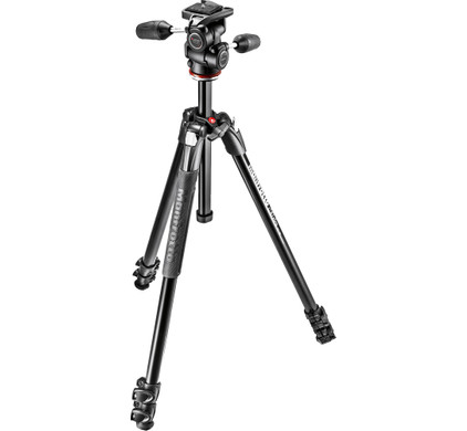 Manfrotto 290 XTRA Kit 3-Way Head Front
