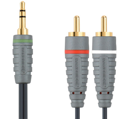 Bandridge 3,5 mm naar RCA Kabel 5 Meter