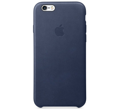 Apple iPhone 6/6s Leather Case Blauw Back