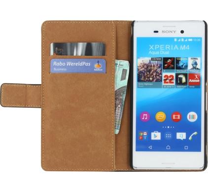 Mobilize Classic Wallet Book Case Sony Xperia M4 Aqua Zwart