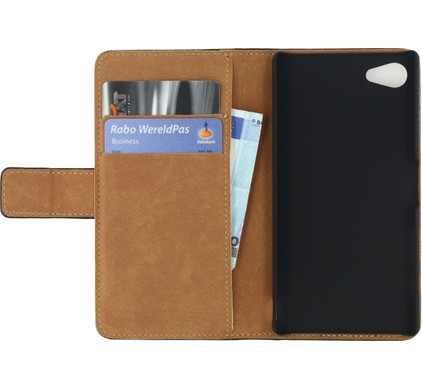 Mobilize Classic Book Wallet Case Sony Xperia Z5 Compact Zwart