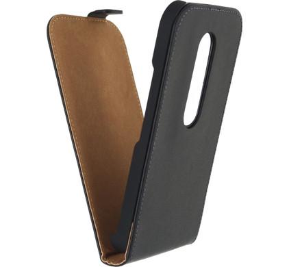 Mobilize Classic Flip Case Motorola Moto G 4G (Gen 3) Zwart