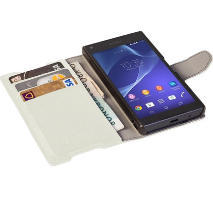 Krusell Boras Wallet Case Sony Xperia Z5 Compact Wit