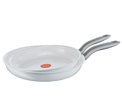 Tefal Ceramic Control White Induction Koekenpanset 24 + 28 cm