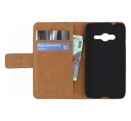 Mobilize Classic Wallet Book Case Samsung Galaxy Trend Lite 2 Zwart