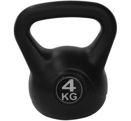 Tunturi Kettlebell - PVC - 4 kg - Zwart