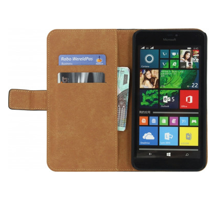 Mobilize Classic Wallet Book Case Microsoft Lumia 640 XL Zwart