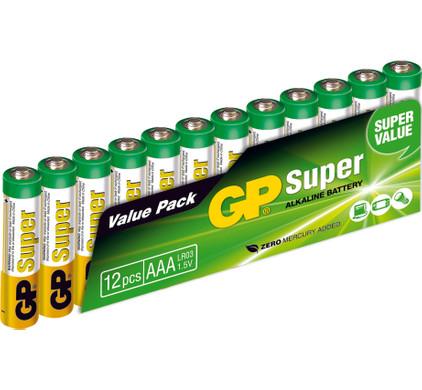 GP Super Alkaline Valuepack 12x AAA