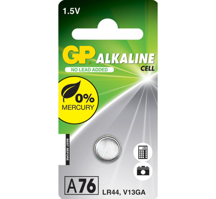 GP Alkaline Cell LR44 + cleaning + geheugen