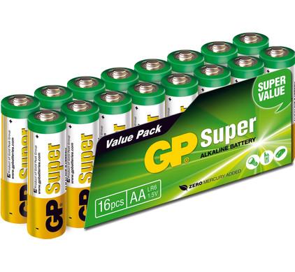 GP Super Alkaline Valuepack + reinigingsdoekje + statief