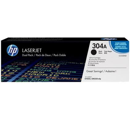 HP 304AD Zwarte Toner Dual Pack (CC530AD)