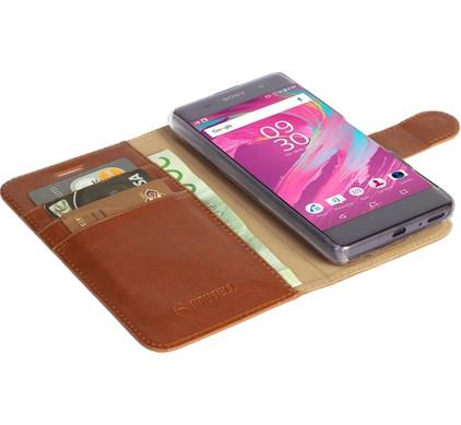 Krusell Ekero 2 in 1 Wallet Sony Xperia XA Bruin
