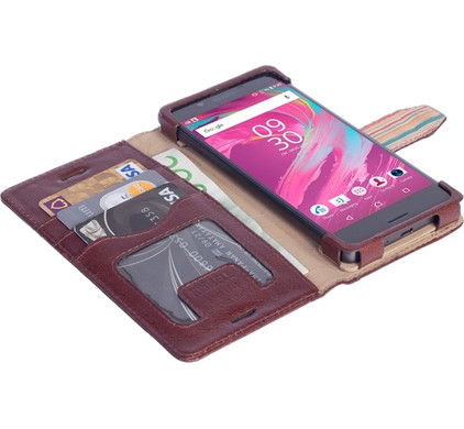 Krusell Sigtuna Wallet Xperia X / Xperia X Performance Bruin