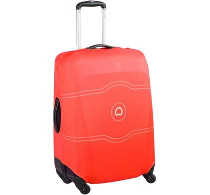 Delsey Travel Necessities Suitcase Cover S/M Red