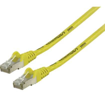 Valueline Netwerkkabel FTP CAT6 20 meter Geel