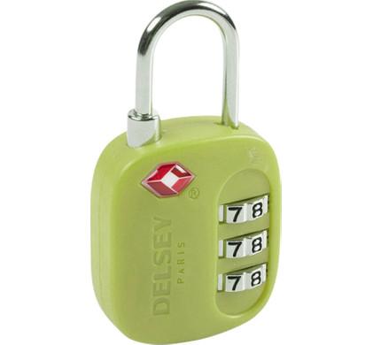 Delsey Travel Necessities TSA 3-Digit Padlock (USA) Lime